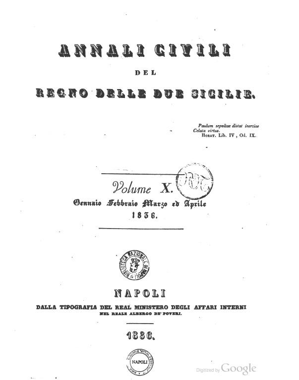 COPERTINA 1836 vol vi Annali_civili_del_Regno_delle_due_Sicili