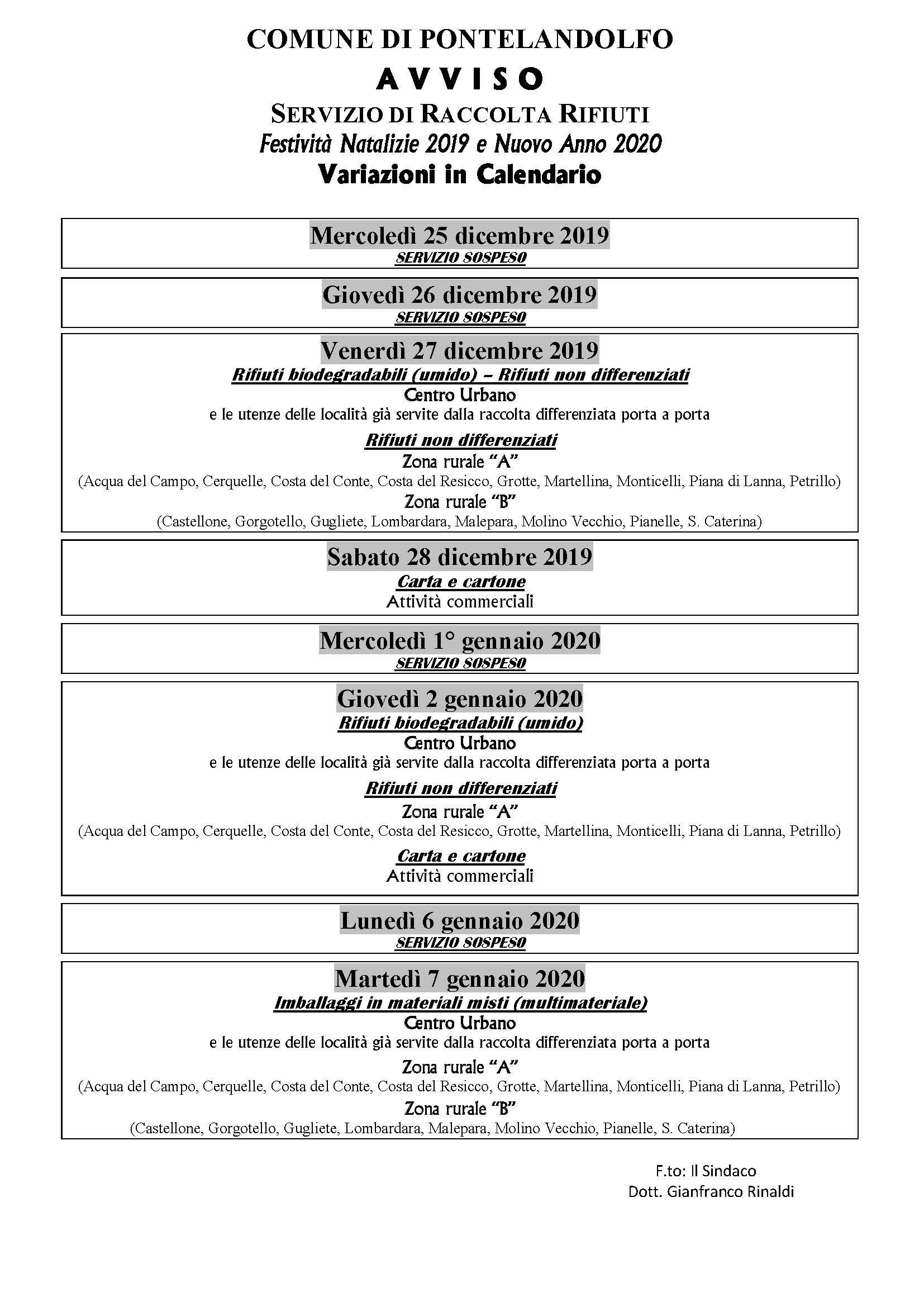 Calendario festività 2019_2020