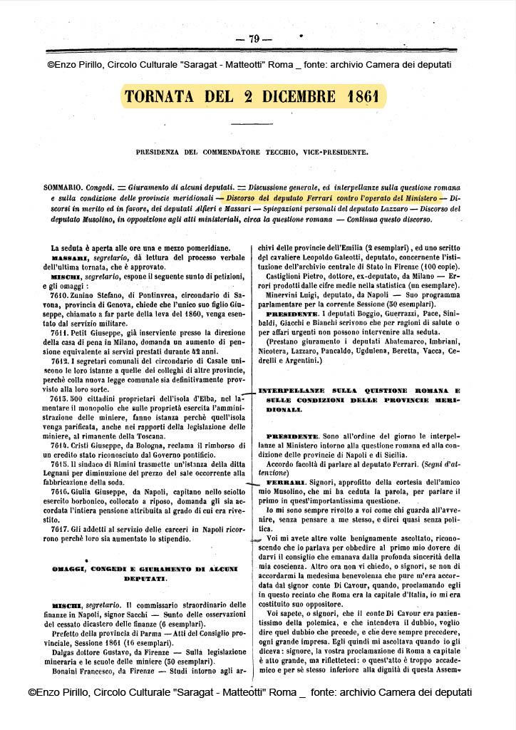 Pontelandolfo _ Casalduni _ Camera deputati _ 02_12_1861_ pag 1