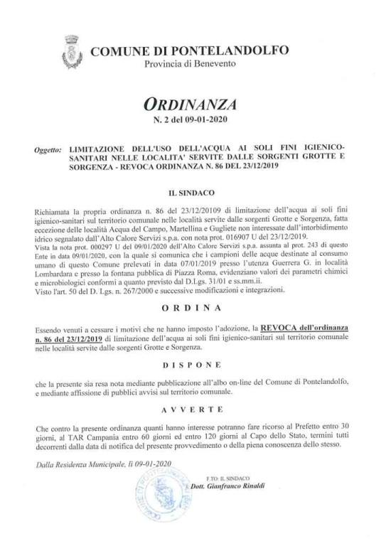 Revoca ordinanza 86_2019