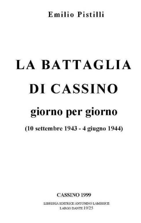 copertina BATTAGLIA DI CASSINO